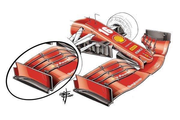 Ferrari SF1000 front wing, Styrian GP