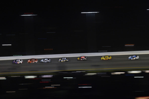 #11: Denny Hamlin, Joe Gibbs Racing, Toyota Camry FedEx and #23: Bubba Wallace, 23XI Racing, Toyota Camry DoorDash