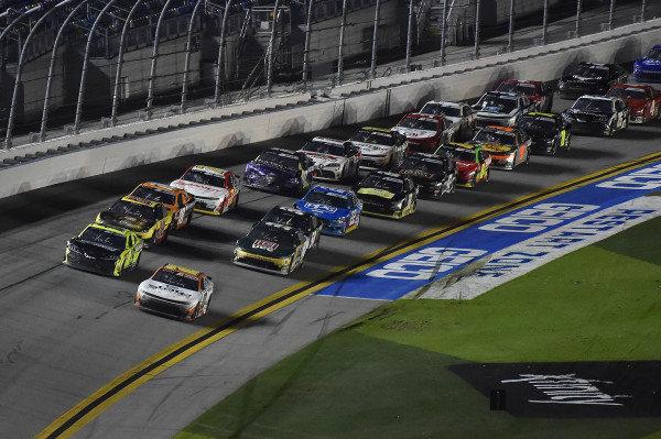 #10: Jeb Burton, Kaulig Racing, Chevrolet Camaro Nutrien Ag Solutions and #19: Brandon Jones, Joe Gibbs Racing, Toyota Supra Menards/Barracuda Pumps