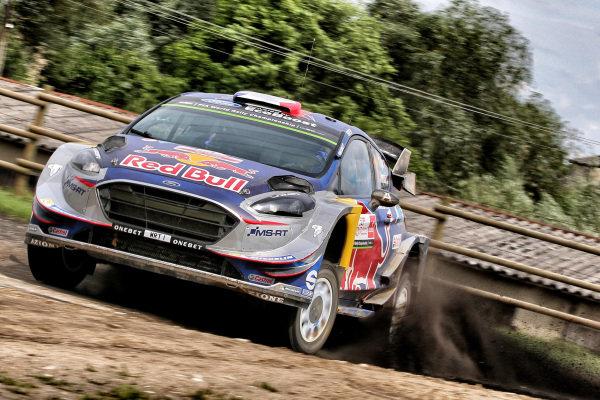 Sebastien Ogier (FRA) / Julien Ingrassia (FRA), M-Sport World Rally Team Ford Fiesta WRC at World Rally Championship, Rd8, Rally Poland, Day Three, Mikolajki, Poland, 2 July 2017.