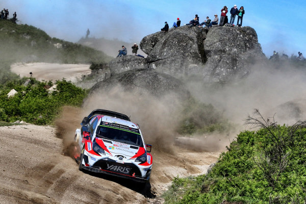Jari-Matti Latvala (FIN) / Miikka Anttila (FIN), Toyota Gazoo Racing Toyota Yaris WRC at World Rally Championship, Rd6, Rally Portugal, Day Two, Matosinhos, Portugal, 20 May 2017.
