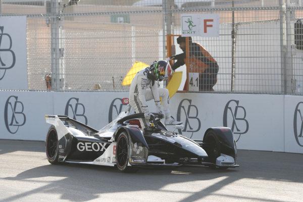 Brendon Hartley (NZL), GEOX Dragon, Penske EV-4, stops on track