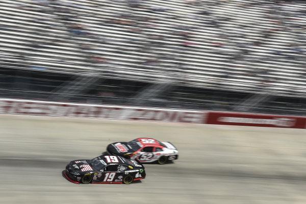 #19: Brandon Jones, Joe Gibbs Racing, Toyota Supra 1st Foundation, #52: David Starr, Means Motorsports, Chevrolet Camaro ATS