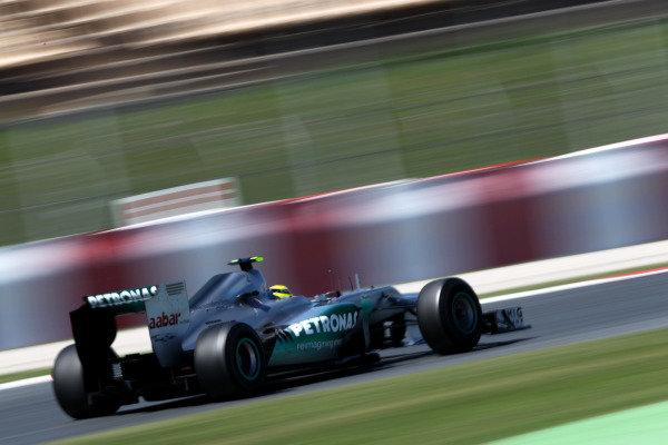 Circuit de Catalunya, Barcelona, Spain11th May 2012Nico Rosberg, Mercedes F1 W03. World Copyright:Andy Hone/LAT Photographicref: Digital Image  HONY9156