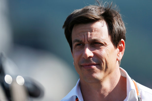 Spa-Francorchamps, Spa, Belgium. Saturday 22 August 2015. Toto Wolff, Executive Director (Business), Mercedes AMG. World Copyright: Alastair Staley/LAT Photographic ref: Digital Image _R6T5855