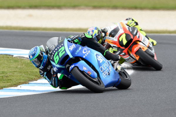 2017 Moto2 Championship - Round 16 Phillip Island, Australia. Sunday 22 October 2017 Stefano Manzi, Sky Racing Team VR46 World Copyright: Gold and Goose / LAT Images ref: Digital Image 24899