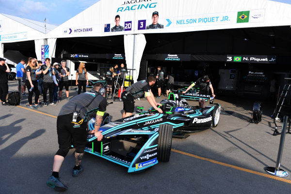 2017/2018 FIA Formula E Championship. Riound 1 - Hong Kong, China. Thursday 21 July 2016. Nelson Piquet Jr. (BRA), Panasonic Jaguar Racing, Jaguar I-Type II Photo: Mark Sutton/LAT/Formula E ref: Digital Image DSC_0098