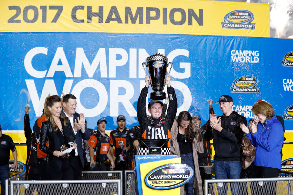 NASCAR Camping World Truck Series Ford EcoBoost 200 Homestead-Miami Speedway, Homestead, FL USA Friday 17 November 2017 Christopher Bell, JBL Toyota Tundra championship World Copyright: Lesley Ann Miller LAT Images