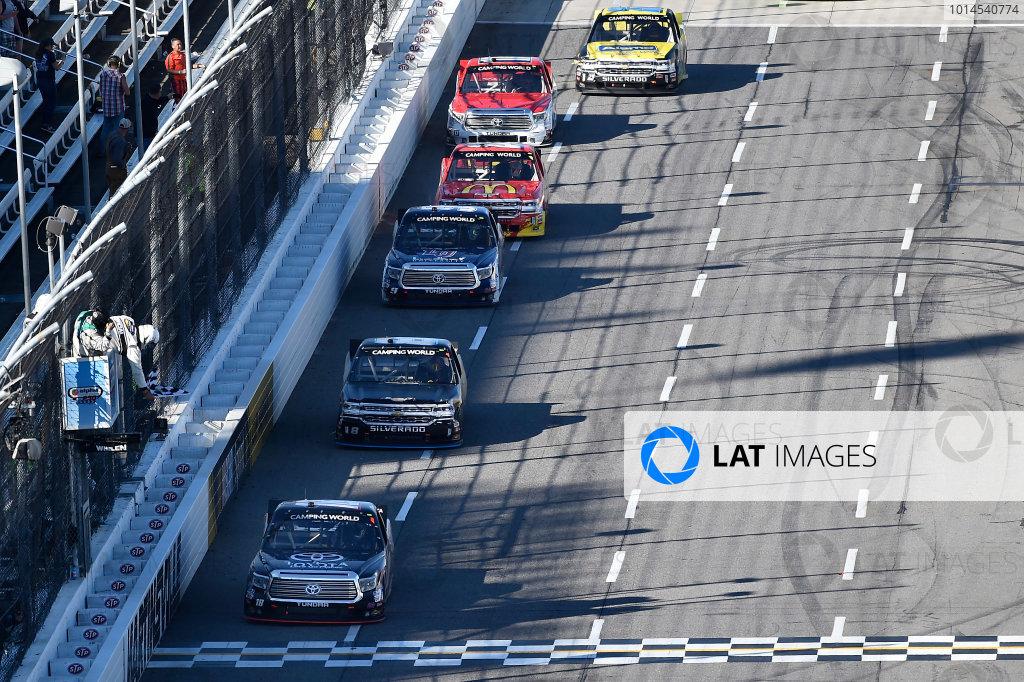 1-2 April, 2016, Martinsville, Virginia USA Kyle Busch (18) crosses the finish line to win the race. ©2016, John Harrelson / LAT Photo USA