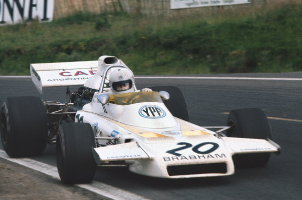 1972 French Grand Prix.  Clermont-Ferrand, France. 30th June - 2nd July 1972.  Carlos Reutemann, Brabham BT37 Ford, 12th position.  Ref: 72FRA27. World Copyright: LAT Photographic