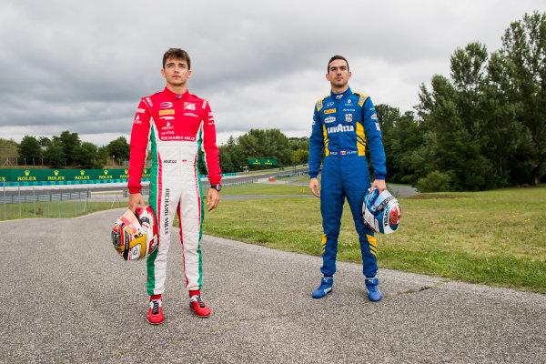 2017 FIA Formula 2 Round 7. Hungaroring, Budapest, Hungary. Thursday 27 July 2017. Charles Leclerc (MCO, PREMA Racing) and Nicholas Latifi (CAN, DAMS).  Photo: Zak Mauger/FIA Formula 2. ref: Digital Image _56I0167