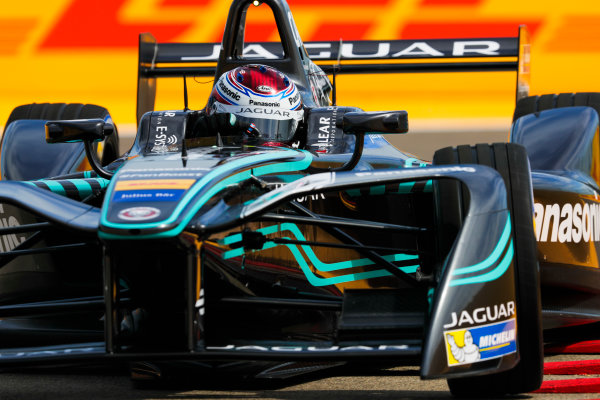 2016/2017 FIA Formula E Championship. Round 7 - Berlin ePrix, Tempelhof Airport, Berlin, Germany. Friday 09 June 2017. Adam Carroll (GBR), Jaguar Racing, Spark-Jaguar, Jaguar I-Type 1. Photo: Zak Mauger/LAT/Formula E ref: Digital Image _54I5128