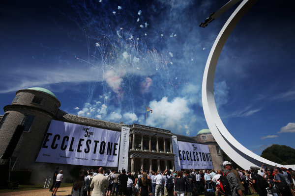 2017 Goodwood Festival of Speed. Goodwood Estate, West Sussex, England. 30th June - 2nd July 2017. Benie Ecclestone Celebration  World Copyright : JEP/LAT Images