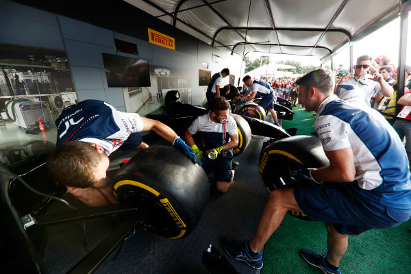 Red Bull Ring, Spielberg, Austria. Saturday 08 July 2017. The Pit Stop Challenge in the F1 fan village. World Copyright: Glenn Dunbar/LAT Images ref: Digital Image _X4I8011