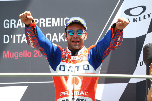 2017 MotoGP Championship - Round 6 Mugello, Italy Sunday 4 June 2017 Podium: Danilo Petrucci, Pramac Racing World Copyright: Gold & Goose Photography/LAT Images ref: Digital Image 674855