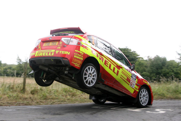Isle of Man. 9th - 10th July 2010.Keith Cronin/Barry McNulty - Pirelli/TEG Sport Subaru Impreza N15.World Copyright: Ebrey LAT Photographic.