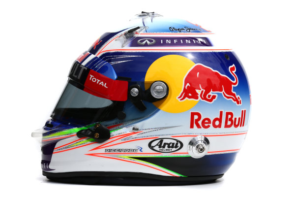 Albert Park, Melbourne, Australia. Helmet of Daniel Ricciardo, Red Bull Racing.  Thursday 12 March 2015. World Copyright: LAT Photographic. ref: Digital Image 2015_Helmet_045