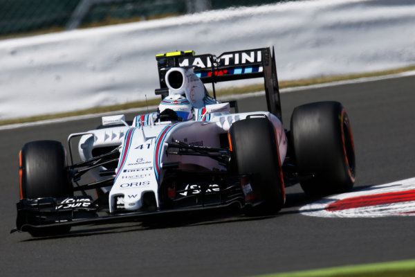 Silverstone Circuit, Northamptonshire, England. Friday 3 July 2015. Susie Wolff, Williams FW37 Mercedes. World Copyright: Alastair Staley/LAT Photographic ref: Digital Image _79P9411