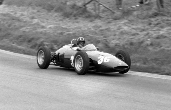 Graham Hill (GBR) BRM P48/57 was battling for points when he retired with an oil leak.
