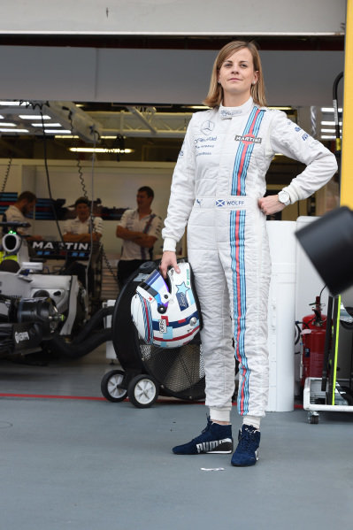 Susie Wolff (GBR) Williams Development Driver. Formula One World Championship, Rd14, Singapore Grand Prix, Marina Bay Street Circuit, Singapore, Race Day, Sunday 21 September 2014.
