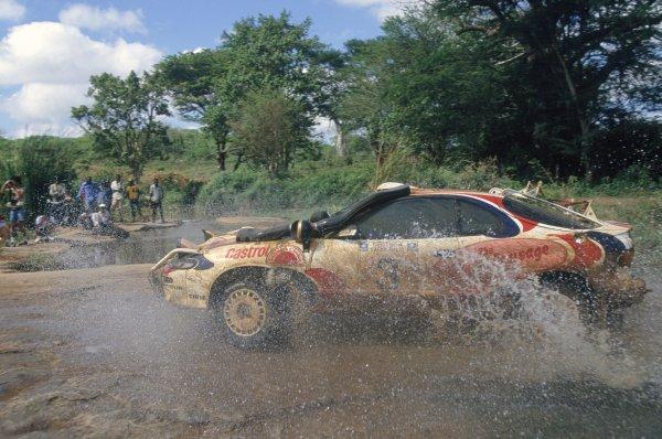 1994 World Rally Championship.Safari Rally, Kenya. 31 March-3 April 1994.Ian Duncan/David Williamson (Toyota Celica Turbo 4WD), 1st position.World Copyright: LAT PhotographicRef: 35mm transparency 94RALLY03