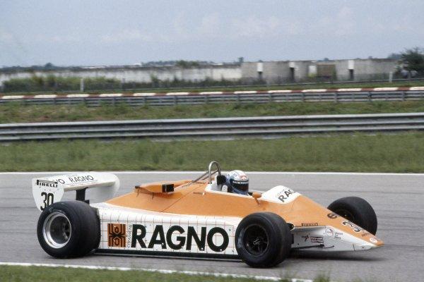 1982 Brazilian Grand Prix.Rio de Janeiro, Brazil. 19-21 March 1982.Mauro Baldi (Arrows A4-Ford Cosworth), 10th position.World Copyright: LAT PhotographicRef: 35mm transparency 82BRA09