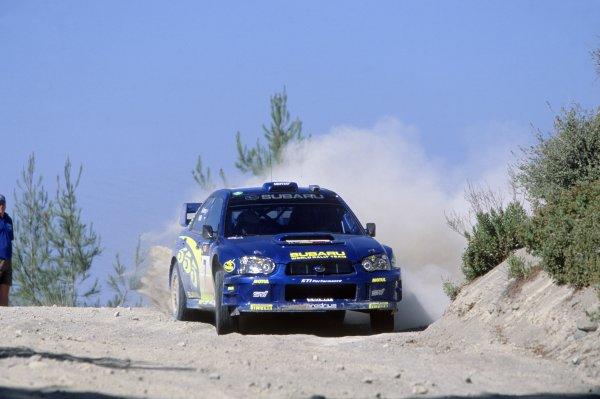 2003 World Rally Championship.Cyprus Rally, Cyprus. 19-22 June 2003.Petter Solberg/Phil Mills (Subaru Impreza WRC), 1st position.World Copyright: McKlein/LAT PhotographicRef: 35mm transparency 03RALLY07