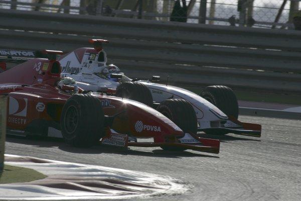2005 GP2 Series - BahrainSakhir, Bahrain28th-30th September 2005Friday Race 2Ernesto Viso (YV, BCN Competicion) defends from Nico Rosberg (D, ART Grand Prix). Action. Copyright: GP2 Series Media Service ref: Digital Image Only