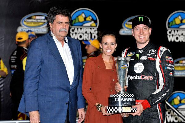 15 November, 2013, Homestead, Florida USA Kyle Busch celebrates the Truck Series Championship Owners win © 2013, Nigel Kinrade LAT Photo USA