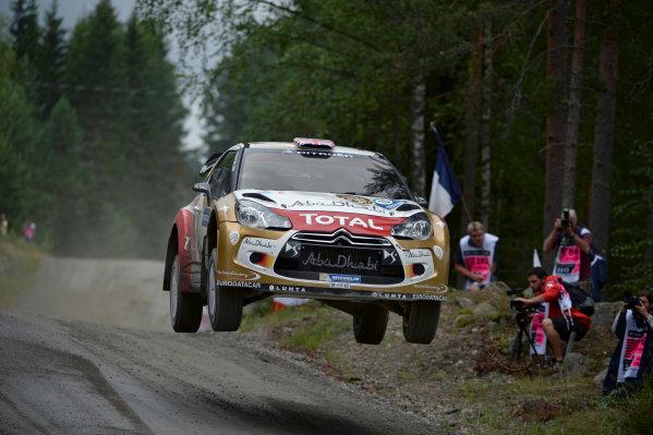 2013 FIA World Rally Championship Round 08-Rally Finland 31/7-3/8 2013. Mikko Hirvonen, Citroen WRC, Action  Worldwide Copyright: McKlein/LAT