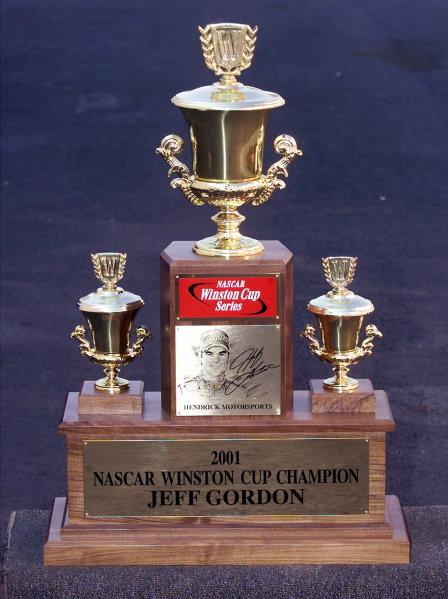 The Winston Cup Series Trophy as won by Jeff Gordon (USA) for the fourth time. NASCAR Winston Cup Series, NAPA 500, Atlanta, USA, 17 November 2001.DIGITAL IMAGE