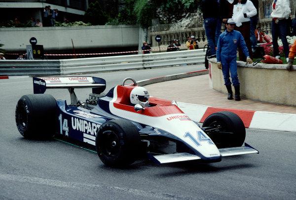 1980 Monaco Grand Prix.Monte Carlo, Monaco.15-18 May 1980.Tiff Needell (Ensign N180 Ford) at Loews Hairpin.Ref-80 MON 38.World Copyright - LAT Photographic