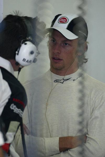 2003 European Grand Prix - Friday 1st Qualifying,Nurburgring, Germany. 27th June 2003 Jenson Button, BAR Honda 005, portrait.World Copyright: Steve Etherington/LAT Photographic ref: Digital Image Only