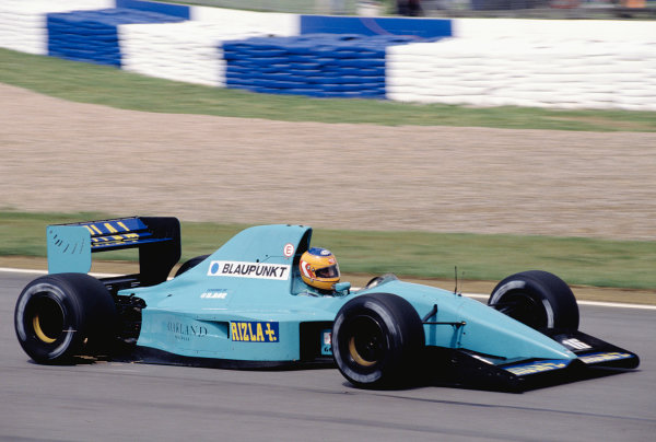 1992 British Grand Prix.Silverstone, England. 10-12 July 1992.Karl Wendlinger (March CG911 Ilmor).Ref-92 GB 50.World Copyright - LAT Photographic