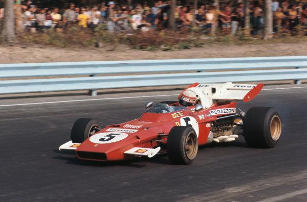 1971 United States Grand Prix.  Watkins Glen, New York, USA. 1st-3rd October 1971.  Clay Regazzoni, Ferrari 312B2, 6th position.  Ref: 71USA58. World Copyright: LAT Photographic