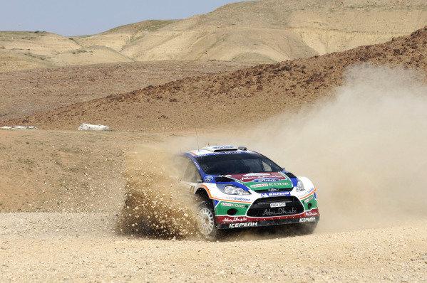 Jari-Matti Latvala (FIN) Ford Fiesta RS WRC on stage 15 . World Rally Championship, Rd4, Rally Jordan, Dead Sea, Amman, Jordan, Day 3, Saturday 16 April 2011.