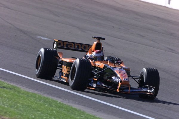 Jos Verstappen (NED) Arrows Asiatech A22 United States Grand Prix, Indianapolis 30 September 2001. DIGITAL IMAGE