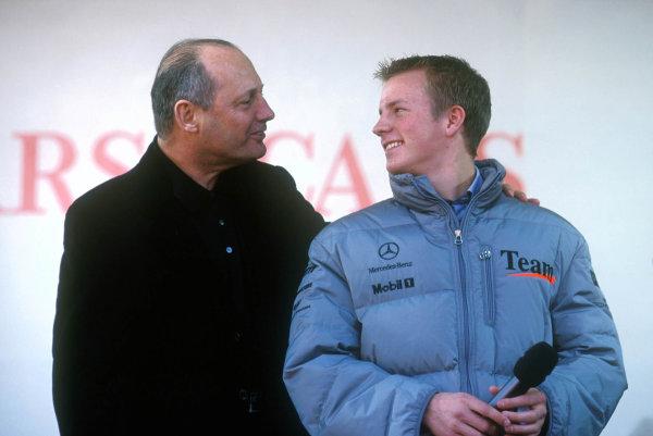 2001 Stars and Cars Weekend Stuttgart, Germany. 3rd - 4th Novenber 2001. Kimi Raikkonen with Ron Dennis - portrait. World Copyright: West ref: Digital Image Only.