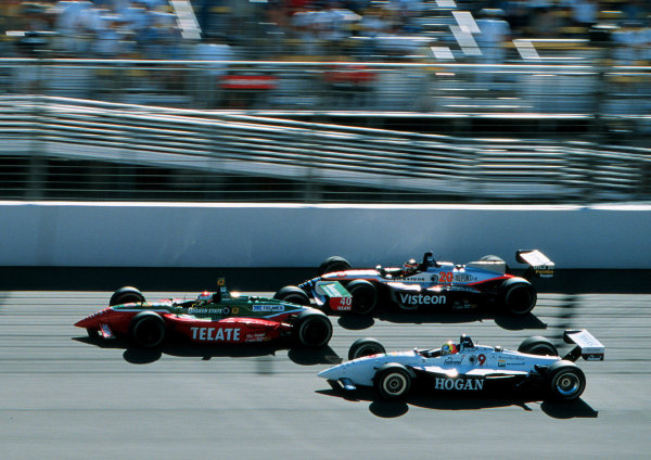 1999 CART California 500, California Speedway 31/10/99Fernandez passes Jones and Castro-Neves-1999, Phil Abbott / USALAT PHOTOGRAPHIC