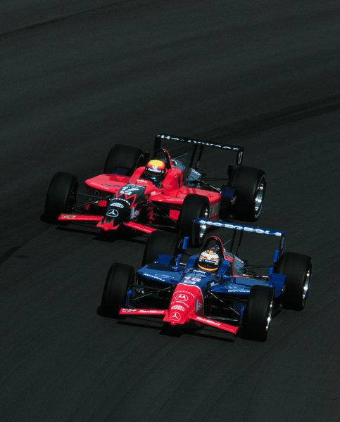 1999 CART Chicago GP, 22/8/99Mark Blundell and Mauricio Gugelmin-1999, Phil Abbott, USALAT PHOTOGRAPHIC