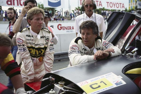 Mario Andretti with John Andretti.