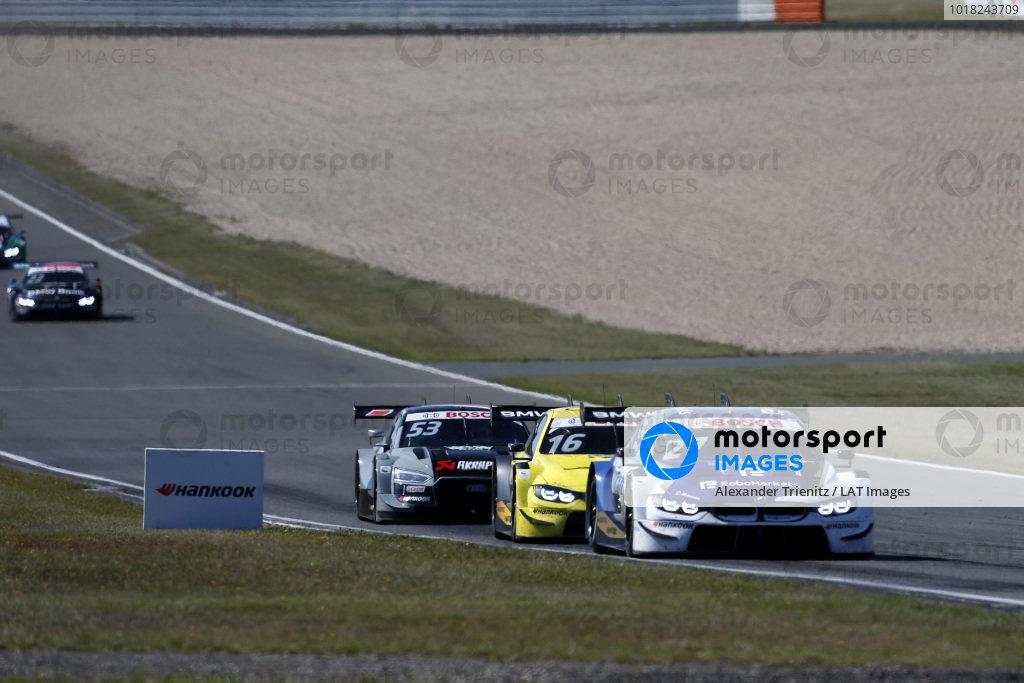 Jonathan Aberdein, BMW Team RBM, BMW M4 DTM, Timo Glock, BMW Team RMG, BMW M4 DTM, Jamie Green, Audi Sport Team Rosberg, Audi RS 5 DTM.