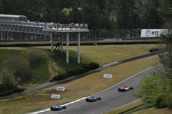 Colton Herta, Harding Steinbrenner Racing Honda, Scott Dixon, Chip Ganassi Racing Honda, Felix Rosenqvist, Chip Ganassi Racing Honda