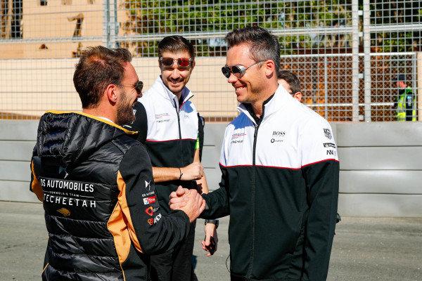 Jean-Eric Vergne (FRA), DS Techeetah, DS E-Tense FE20 and Andre Lotterer (DEU), Tag Heuer Porsche, Porsche 99x Electric