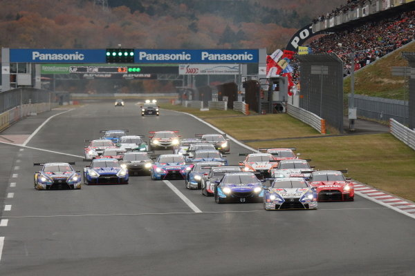 The start of race one, at Fuji Speedway's Super GT - DTM Dream Race