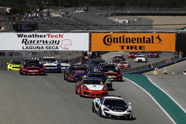 #69 Motorsports In Action, McLaren GT4, GS: Corey Fergus, Jesse Lazare, #28 RS1, Porsche Cayman GT4 MR, GS: Dillon Machavern, Spencer Pumpelly, start