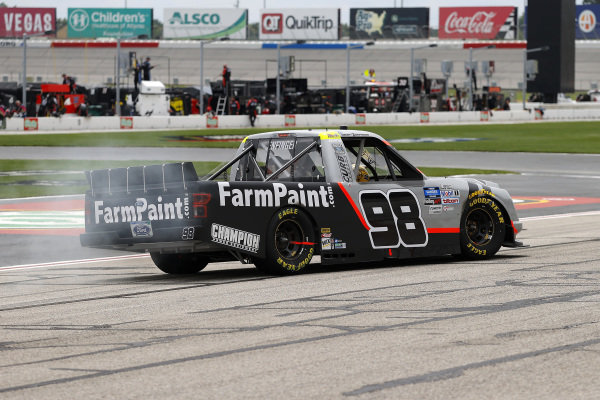 Race winner Grant Enfinger, ThorSport Racing Ford Farm Paint, Copyright: Kevin C. Cox/Getty Images.