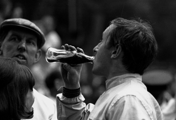 1964 Monaco F3 Grand Prix. Monte Carlo. 9 May 1964. Jackie Stewart with wife Helen and Ken Tyrrell (left). He finished in 1st position. World - LAT Photographic
