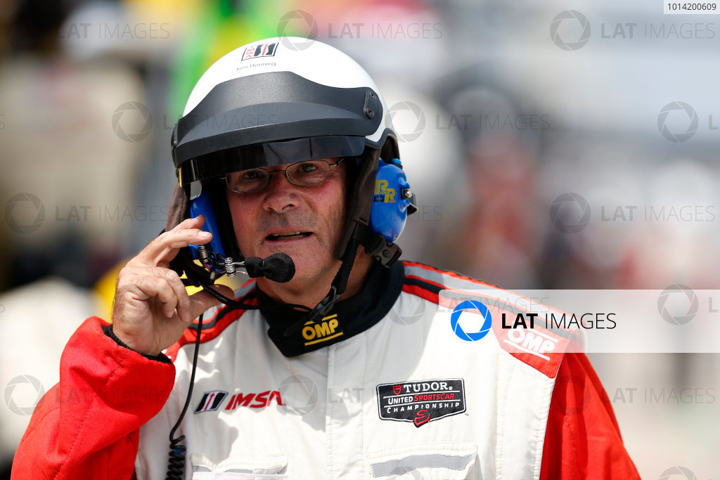 8-10 August 2014, Elkhart Lake, Wisconsin USA IMSA official Ken Henning ©2014, Michael L. Levitt LAT Photo USA
