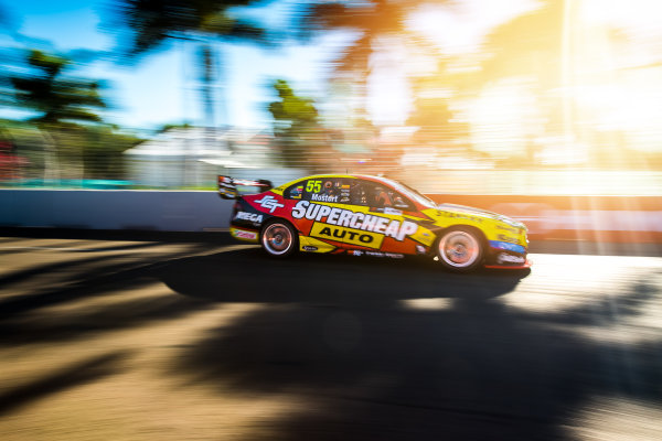 2017 Supercars Championship Round 7.  Townsville 400, Reid Park, Townsville, Queensland, Australia. Friday 7th July to Sunday 9th July 2017. Chaz Mostert drives the #55 Supercheap Auto Racing Ford Falcon FGX. World Copyright: Daniel Kalisz/ LAT Images Ref: Digital Image 070717_VASCR7_DKIMG_2078.jpg